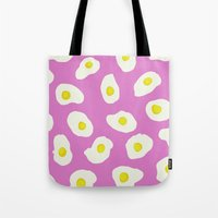 eggs Tote Bags featuring Eggs by AshlynDrake