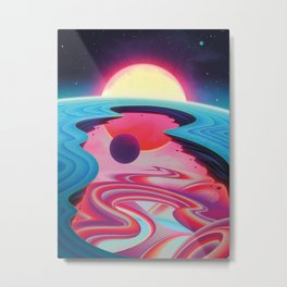 """""""Life Beyond the Pale Blue Dot"""" by Sam Chivers for Nautilus Metal Print"""