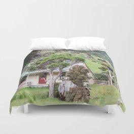 Cottage at Flea Bay, Akaroa, New Zealand Duvet Cover