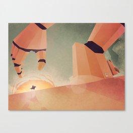 The Standoff Canvas Print