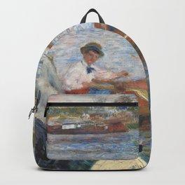 Renoir meets Seurat at the river Backpack