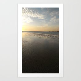 Yellow and grey skies after a storm over the Gulf of Mexico Art Print