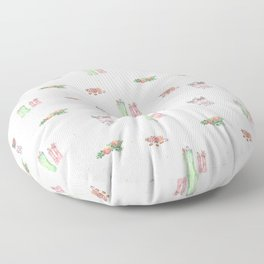 Christmas Boots Pattern Floor Pillow