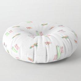 Christmas Boots Pattern Floor Pillow