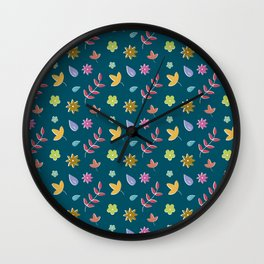 Floral surface Wall Clock