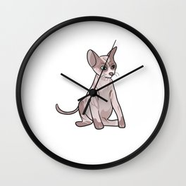 Sphynx Süße Katze Kater Kätzchen Wall Clock