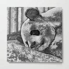 AnimalArtBW_Panda_20170810_by_JAMColorsSpecial Metal Print