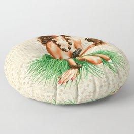 Tiki Girl Floor Pillow