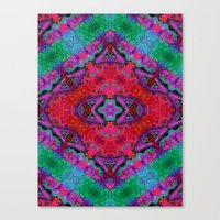kilim Canvas Prints featuring Digital Kilim by Jellyfishtimes