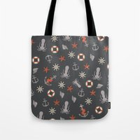 nautical Tote Bags featuring Nautical by Schwebewesen • Romina Lutz