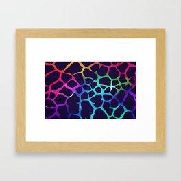 Color Burst: Giraffe Framed Art Print