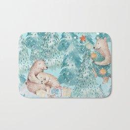 From Bears,Santa Claus and Christmas Night Bath Mat