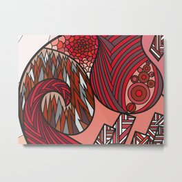 Red Dream - Grafidoodle Metal Print