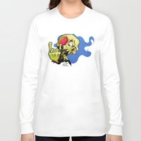 rock n roll Long Sleeve T-shirts featuring Rock n' Roll Skull by Vida Graffiti