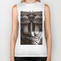 industrial Biker Tanks featuring Industrial by Cash Mattock