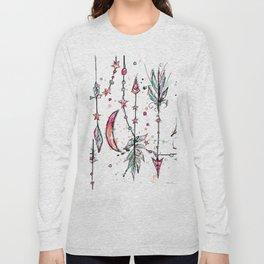 Bohemian Pink and Aqua Long Sleeve T-shirt