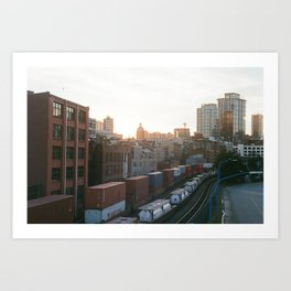 Sunset in Vancouver Art Print