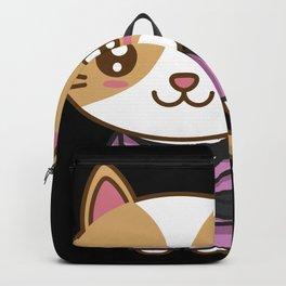 Kawaii Cat in BJJ Uniform - Jiu Jitsu Fighter Backpack