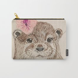 Otter with a flower Carry-All Pouch