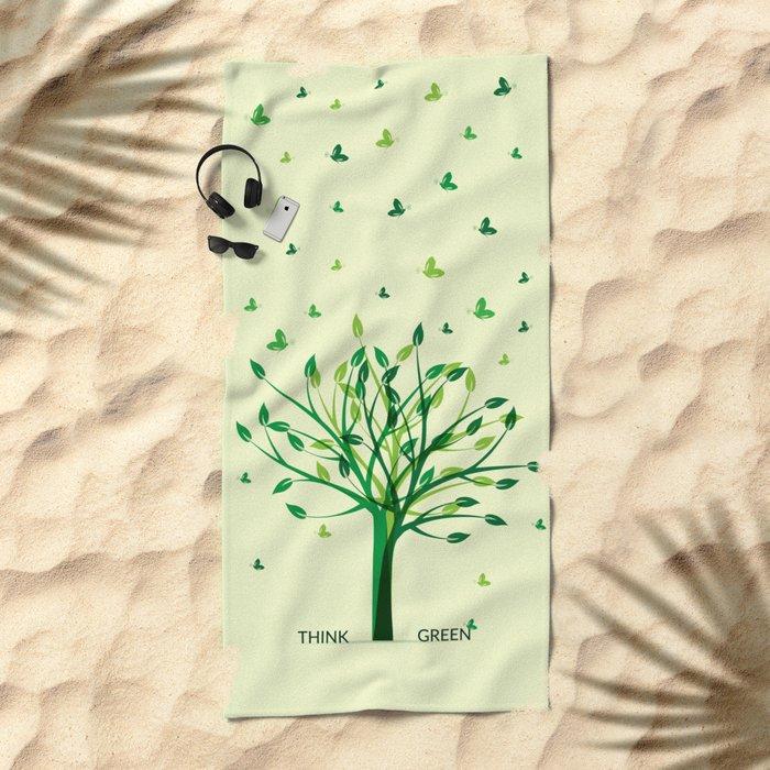Think green! Beach Towel