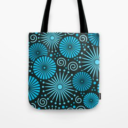 Blue retro abstract Tote Bag