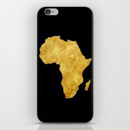 Gold Africa iPhone Skin
