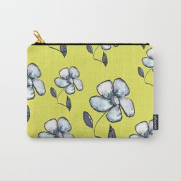 Modern Floral - Yellow Background Carry-All Pouch