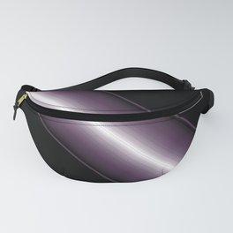 Bold Purple 3 D patten Stripe Design Fanny Pack
