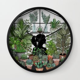 As For Me, I Will Hide Amongst the Plants Wall Clock