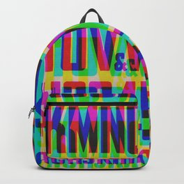 Squeezed Type Glitch Version Backpack