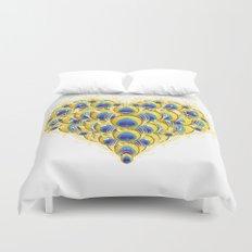 Peacock Heart Duvet Cover