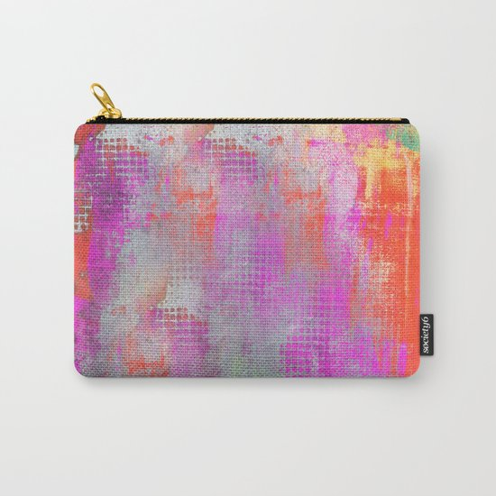 colorful abstract artwork original painting Carry-All Pouch