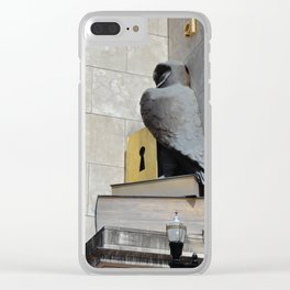 bookish owl Clear iPhone Case