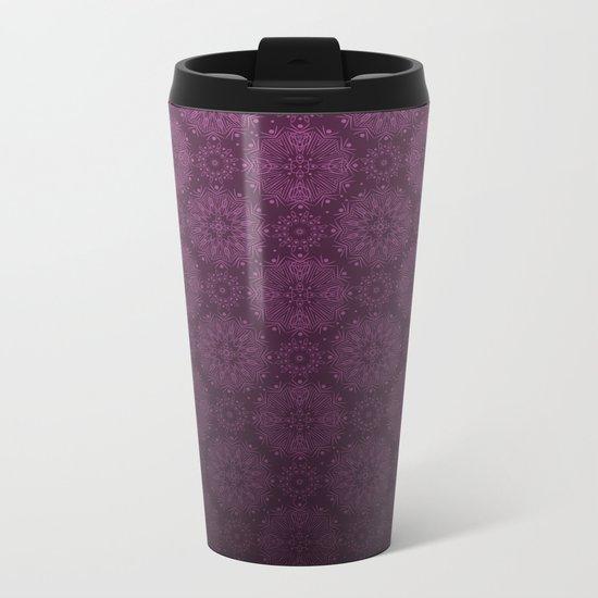 Gradient ornament wine color Metal Travel Mug