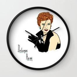Deborah Kerr Portrait Wall Clock