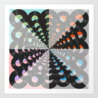 records Art Prints featuring Records by Ornaart