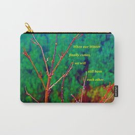 """The Yard #1"" with poem Carry-All Pouch"