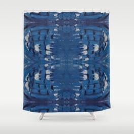 Blue Jay Feathers Shower Curtain