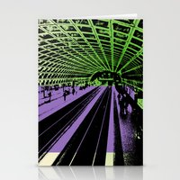 washington dc Stationery Cards featuring Washington DC Metro by Amy Smith - ColorScape