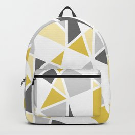 Geometric Pattern in yellow and gray Backpack
