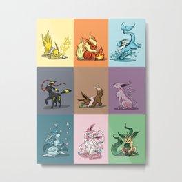 Eeveelutions Metal Print
