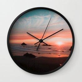 Sunset in Bandon  Wall Clock