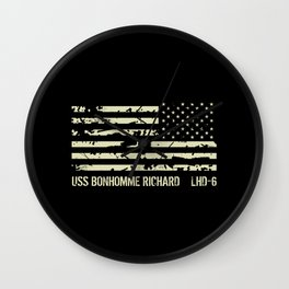 USS Bonhomme Richard Wall Clock