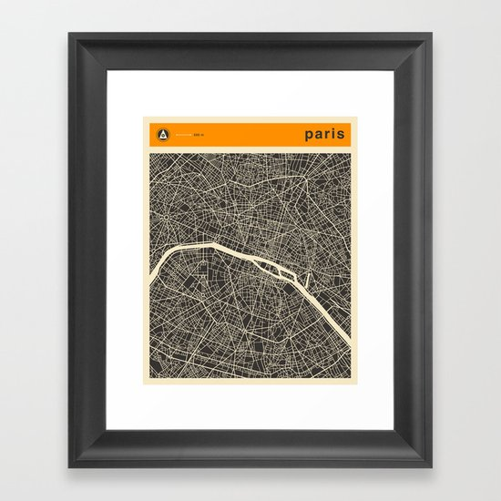 Paris Map Framed Art Print