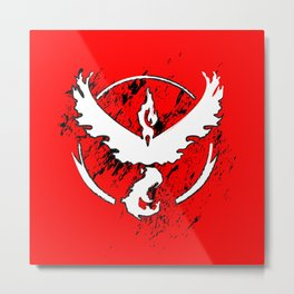 Team Red Metal Print