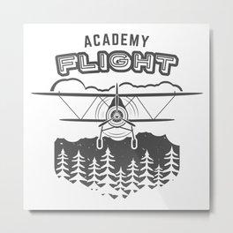 Vintage Airplane Emblem Metal Print