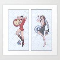 Tony and Bucky Pinups Art Print