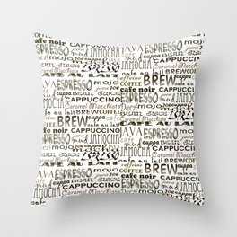 Coffee - In So Many Words Throw Pillow