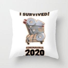 Toilet Paper Virus Pandemic Throw Pillow