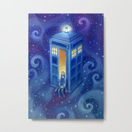 Tea time in the Tardis Metal Print